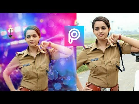 Police Wala photo editing picsArt in photoshoot editing background change
