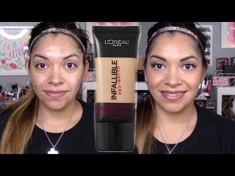 Review+Demo | Acne Oily Skin | Loreal Infallible Pro Matte Foundation