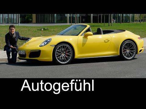 Porsche 911 Carrera 4S Cabriolet FULL REVIEW test driven Autobahn 991.2 Facelift