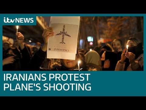 Iranians protest after government admits shooting down plane | ITV News