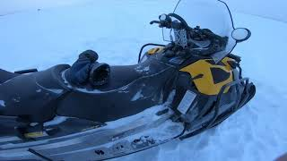 Рыбалка на новом Снегоходе BRP