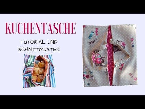Kuchentasche selber nähen - Anleitung  mit Schnittmuster DIY