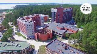 Жилой комплекс Сибиряк Новосибирск. Съемки с воздуха