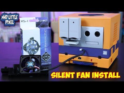 Nintendo GameCube Mods - Noise Blocker Silent Fan Install