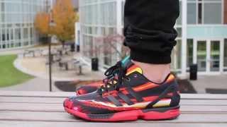 super popular 638ca 4dc34 adidas-zx-flux-print-pack-on-feet
