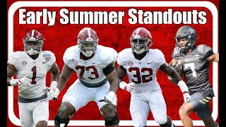 Whos Standing Out For Alabama Football Right Now: Trey Sanders, Dylan Moses, Ben Davis, Evan Neal