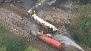 video: Police declare major incident as train fire in south Wales injures two