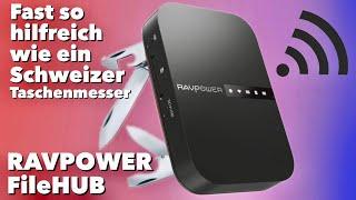 Der RAVPOWER FileHUB - Ein Schweizer Taschenmesser für Reisende im TEST REVIEW