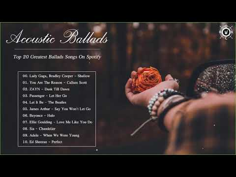 Acoustic Ballads Collection | Top 20 Greatest Ballads Songs On Spotify