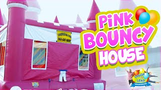 Girl Bouncy Castle - Queens Castle For Girl Parties - Pink Bounce House Party Rental