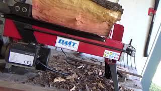 дровокол электрический 7 тонн. стеллаж из бамбука дровянной.