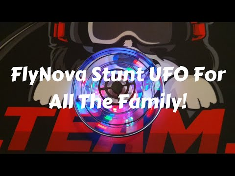FlyNova Stunt Spinning UFO Tested In The Light And Dark A Must See!!(Banggood)