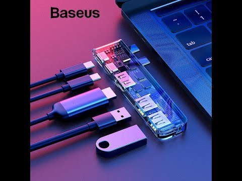 Baseus Thunderbolt Type C USB Adapter HUB for MacBook Pro