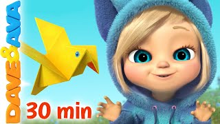 🐤 Two Little Dicky Birds and More Nursery Rhymes and Kids Songs | Dave and Ava 🐤
