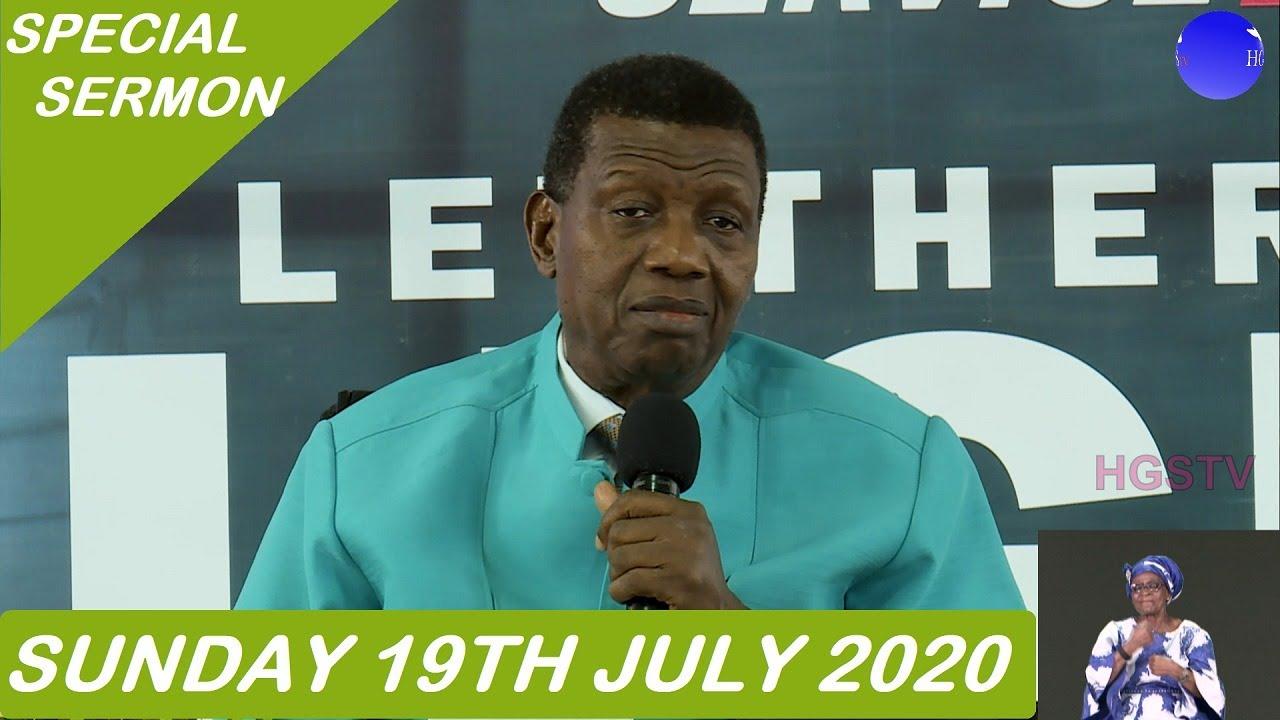 RCCG Sunday Service 19 July 2020 with Pastor Adeboye