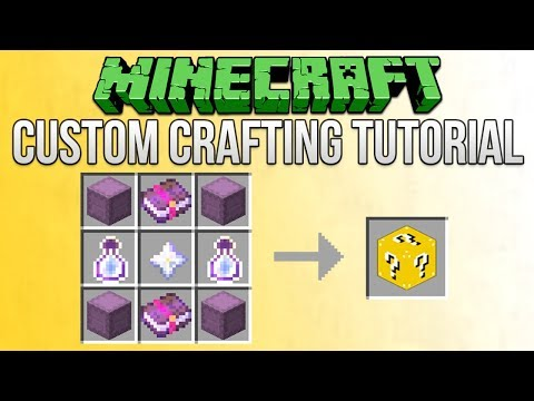 Minecraft 1.13 How To Make Custom Crafting Recipes Tutorial