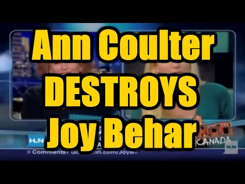 Ann Coulter Makes Joy Behar Wimper on Her Own Show! - Ann Coulter and Joy Behar