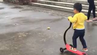 fascol little scooter with boy