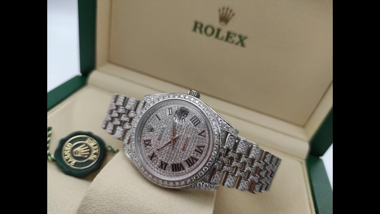 Rolex Datejust II Diamonds Full Pave Tuning 41 mm 126300 CUSTOM