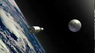 Apollo 11 moon landing animation