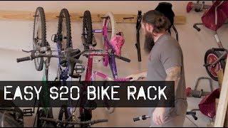 Awesome Garage Bike Rack/Storage - Build It For $20
