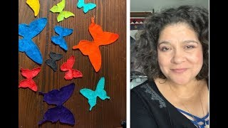 How To Applique  Butterflies (Using A Template For Beginner)