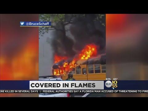 School Bus Burns In Brooklyn