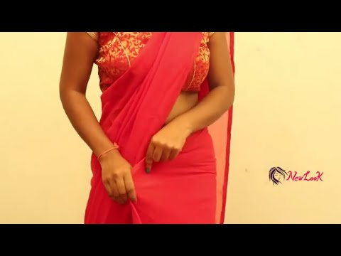 How To Wear Red Saree For Wedding   How To Drape South Indian Saree Perfectly   #Teenagers   NewLook
