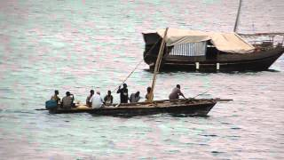 preview picture of video 'Boats between Shimoni and Wasini Island, Kenya'
