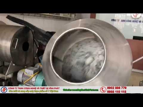 Sản xuất máy trộn tẩm gia vị, máy trộn bột tôm cá