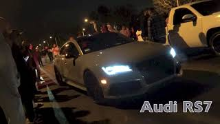 Audi RS7 Vs Truck $500 Street Race
