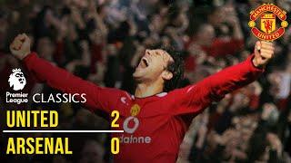 Manchester United 2-0 Arsenal (04/05) | Premier League Classics | Manchester United