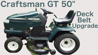 "Craftsman GT 50"" Deck Belt Upgrade!"