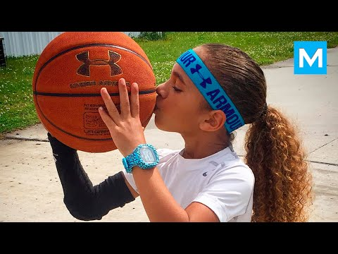 6-Year-Old Basketball Phenom Jaliyah Manuel Balls Like Steph Curry   Muscle Madness