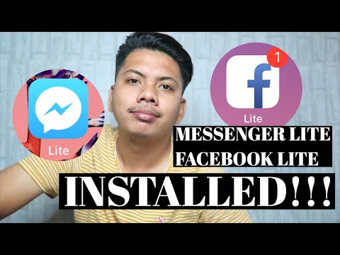 How to intall messenger/Fb lite on iphone