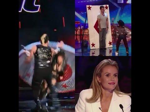 America's Got Talent/Britians Got Talent Close Call Performances | Got Talent Near Death Experiences (видео)
