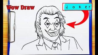 How to draw joker - How to turn words JOKER into cartoon - Wow Draw