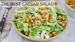 CAESAR SALAD RECIPE   Light, Easy Healthy Salad