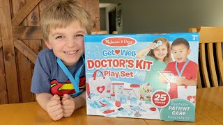 CLARK BECOMES A DOCTOR! | Melissa & Doug Get Well Doctor's Kit Play Set Review