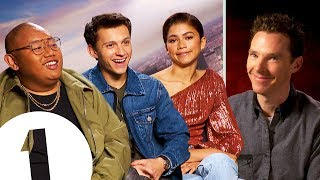 "Tom Holland, Zendaya and Jacob Batalon talk to BBC Radio 1's film critic Ali Plumb about Marvel's Spider-Man: Far From Home. Tom reacts to Benedict Cumberbatch's legendary impression of him, Zendaya reveals the inspiration for her ""indifferent"" face and Tom and Jacob recreate the iconic handshake from Spider-Man: Homecoming.  #spidermanfarfromhome #tomholland #zendaya  -- Official Channel of BBC Radio 1  Here you can find your favourite live performances, the biggest movie stars, amazing interviews and more...   Still haven't subscribed to Radio 1 on YouTube? ►► https://goo.gl/QSjLSr   Follow us on socials:  https://en-gb.facebook.com/bbcradio1/ https://twitter.com/bbcr1 https://www.instagram.com/bbcradio1/  https://www.bbc.co.uk/radio1"