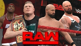 WWE RAW 2K17 Story - Brock Lesnar Confronts Lashley 💥 | 02/20/17