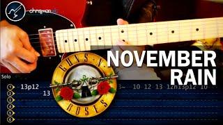 """Cómo Tocar """"November Rain"""" De Guns N' Roses En Guitarra (HD) PARTE 1 - Christianvib"""
