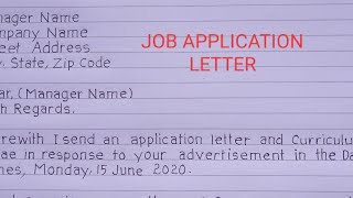 How to write job application letter (sample).