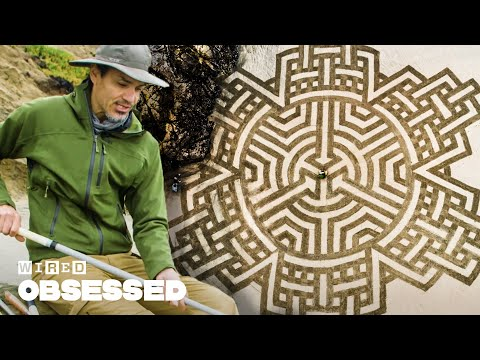 Gorgeous Fractal Sand Art Washed Away