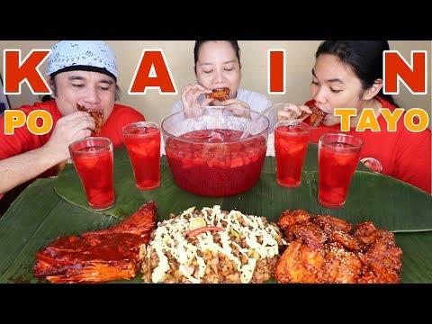 Fried BBQ Tuna Belly,Korean Spicy Buffalo Wings,Pork Sisig Pinoy Mukbang!