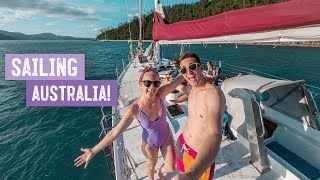 Australia OVERNIGHT CRUISE! Ship Tour + Beautiful White Sand Beach 😍  Wild Kiwi Tours   Whitsundays
