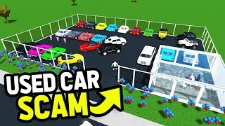 My USED CAR Dealership.. SCAMMED Buyers By RESPAWNING Cars (Roblox Bloxburg)
