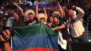 Эмоции зрителей в Махачкале на Бой Хабиба и Конора UFC 229 Khabib vs McGregor