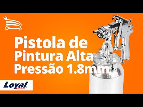 Pistola de Pintura Alta Pressão 1.8mm LO-2002 - Video