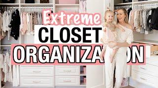 EXTREME Closet Organization + Room Transformation! Cleaning Motivation 2021